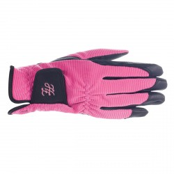 SHONA TOUCH-SCREEN RIDING GLOVES Pink