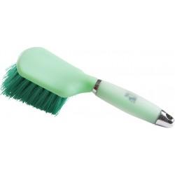 Cepillo para cascos Hippo-Tonic Gel Verde