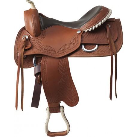 Selle western selle cheval achat et vente pas cher sur for Sillas para montar