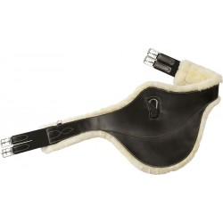 """RIDING WORLD """"SHEEPSKIN LINED"""" BELLY PROTECTOR GIRTH Black"""