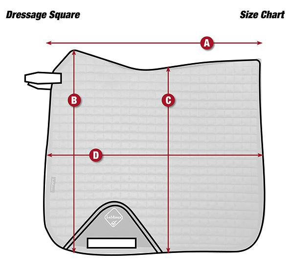 Taille Tapis ProSport Lustre Dressage Square LeMieux