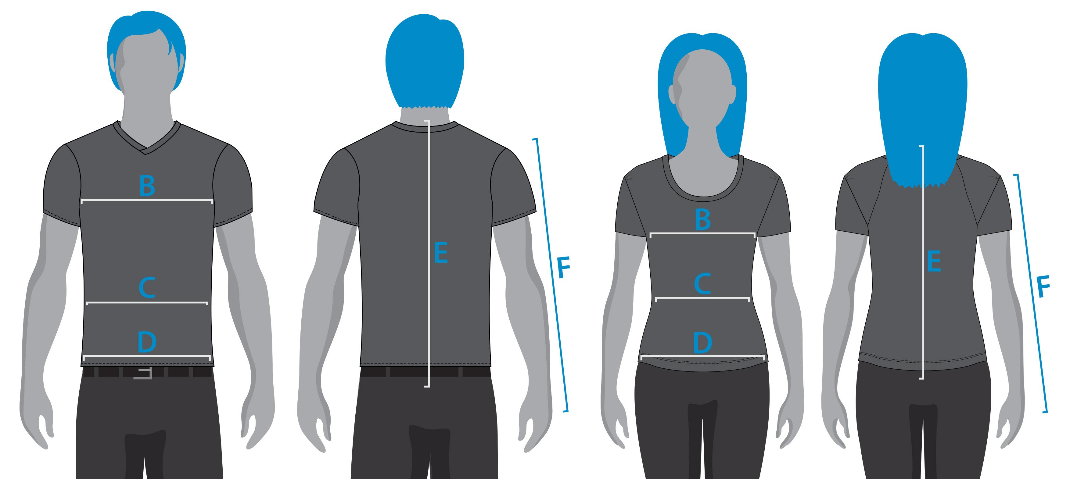 Schéma mesures gilet airbag Helite Air
